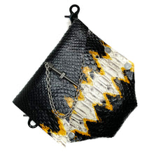 Yellow Python Print Convertible Fanny Pack