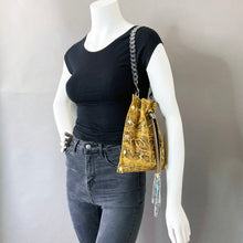 Yellow Snakeprint Mini Drawstring Crossbody Bag 1 of 1