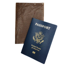 Dark Brown Crinkle leather Passport Cover