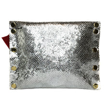 Chrome Cirque Dagger Metallic Clutch