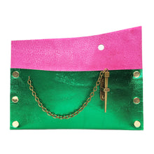 Emerald Metallic Dagger Clutch