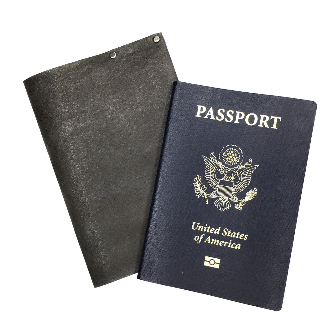 Grey leather Passport Cover