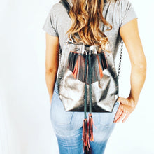 Gunmetal Convertible Backpack Tote Bag