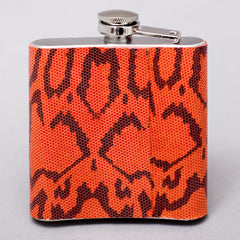 Red Snakeprint Flask- LAST ONE