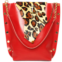 Red Leopard Tote Bag