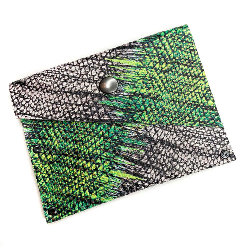 ZigZag Print Leather Snap Wallet