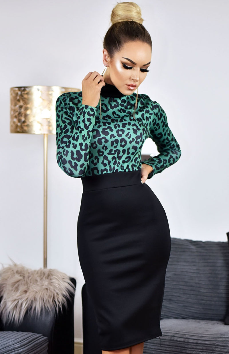 Black Bodycon Midi Dress - Dresses Online