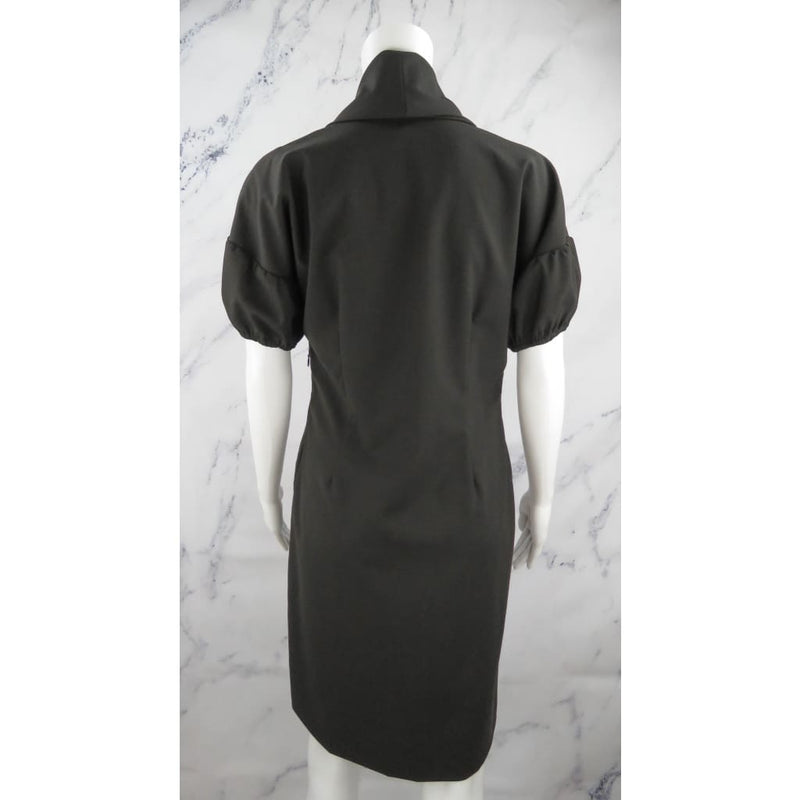Adam Lippes Dark Brown Wool Cowl Neck Size 8 Dress - Dresses