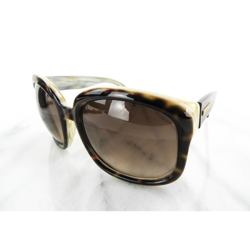 Alexander McQueen Brown Gradient Tortoise Shell AMQ4190/S Sunglasses - Sunglasses