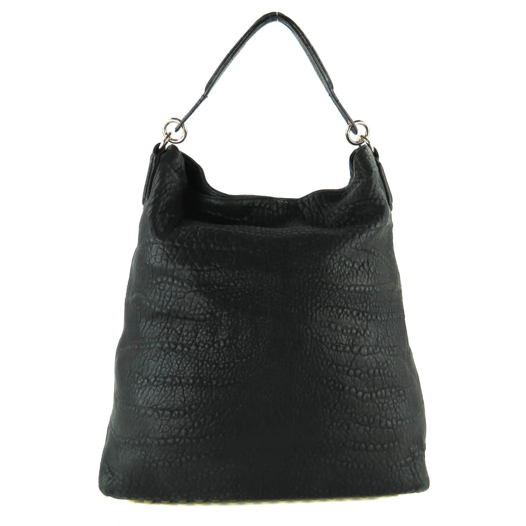 Alexander Wang Black Leather Darcy Slouchy Hobo Bag - handbags