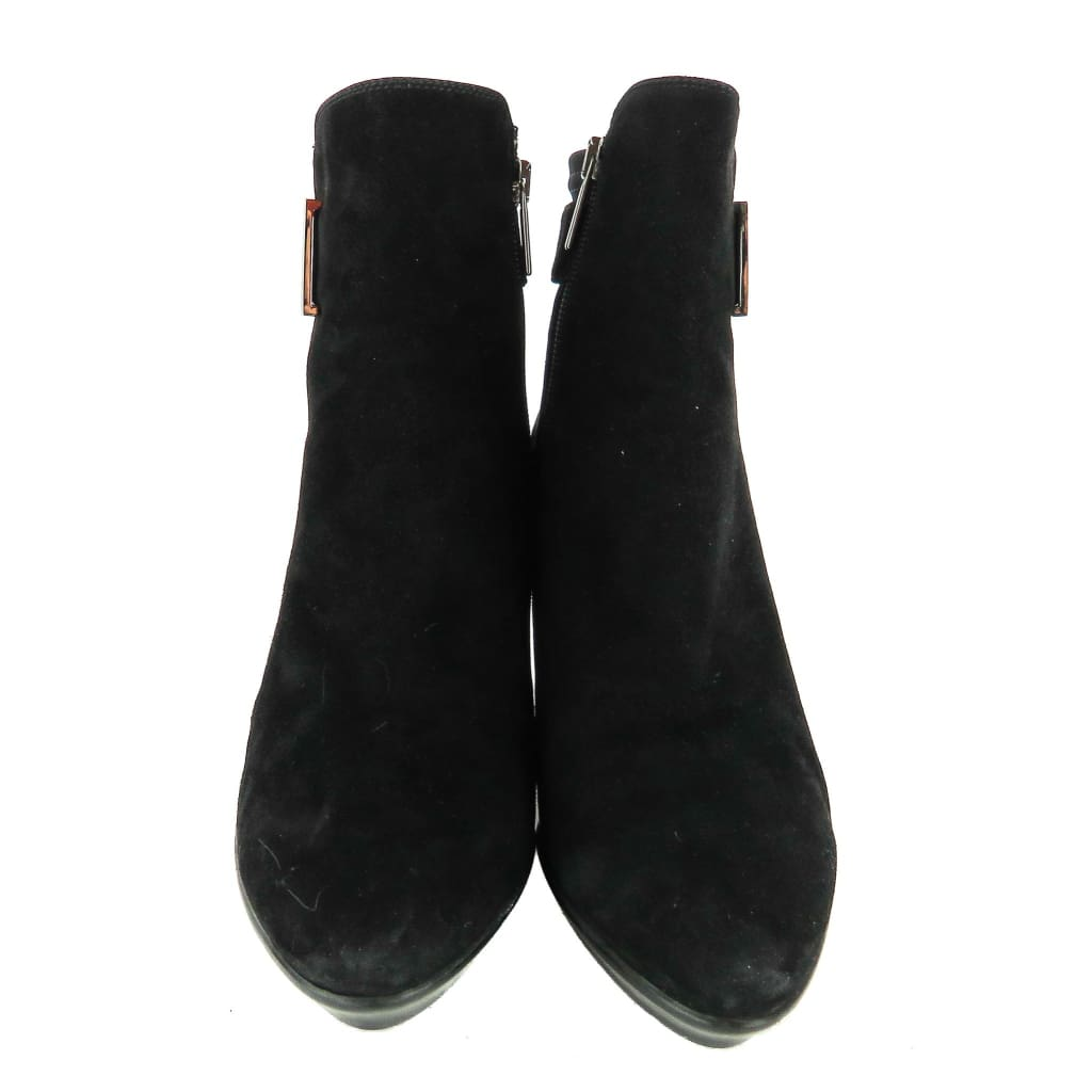 Aquatalia Black Suede Ruby Dry Ankle Boots - Bootie