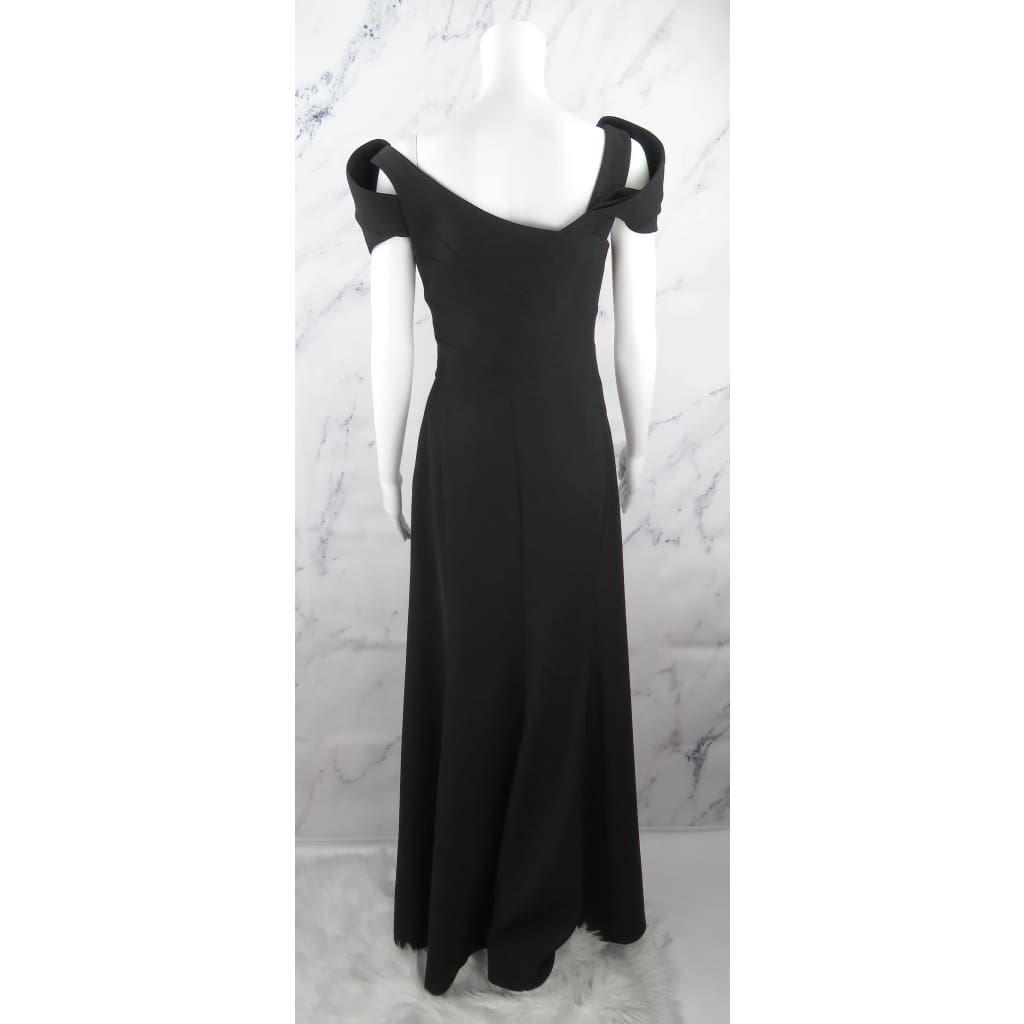 Armani Collezioni Black Polyester Size 6 Evening Gown Dress - Maxi Dress