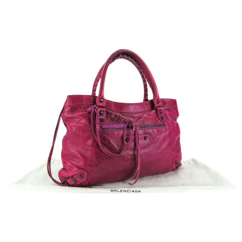 Balenciaga Pink Agneau Leather Classic City Shoulder Bag - Shoulder Bags