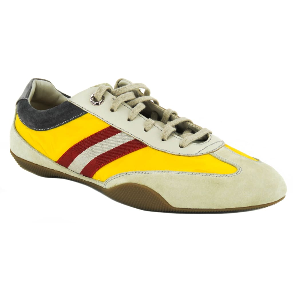 Bally Beige Suede Saffron Synthetic Fabric Astra Sneakers - Sneakers