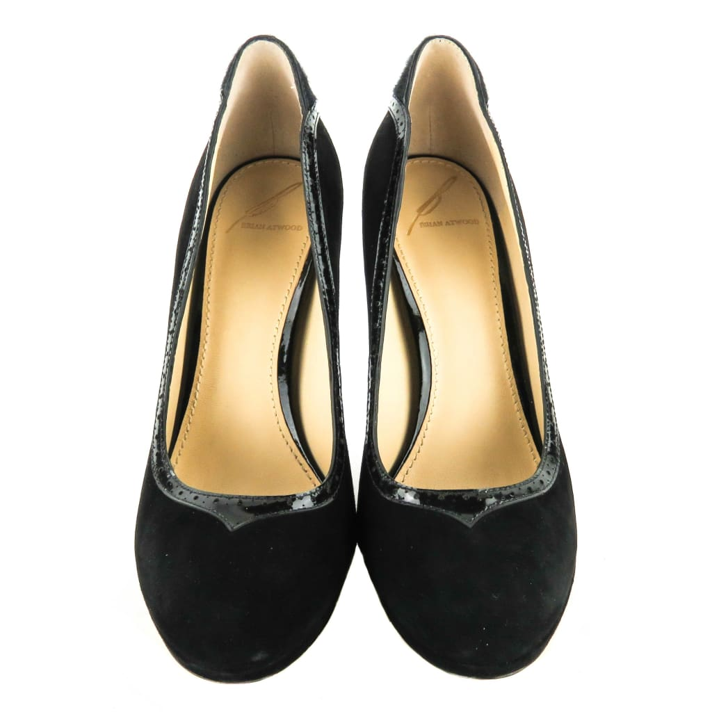 Brian Atwood Black Suede Pony Hair Pumps - Heels