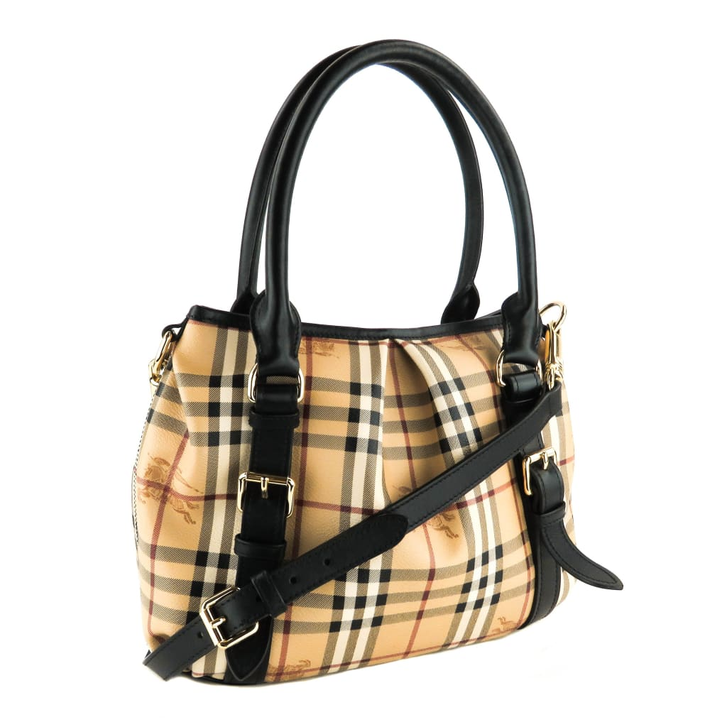 Burberry Beige Haymarket Check Canvas Northfield Tote Bag - Totes