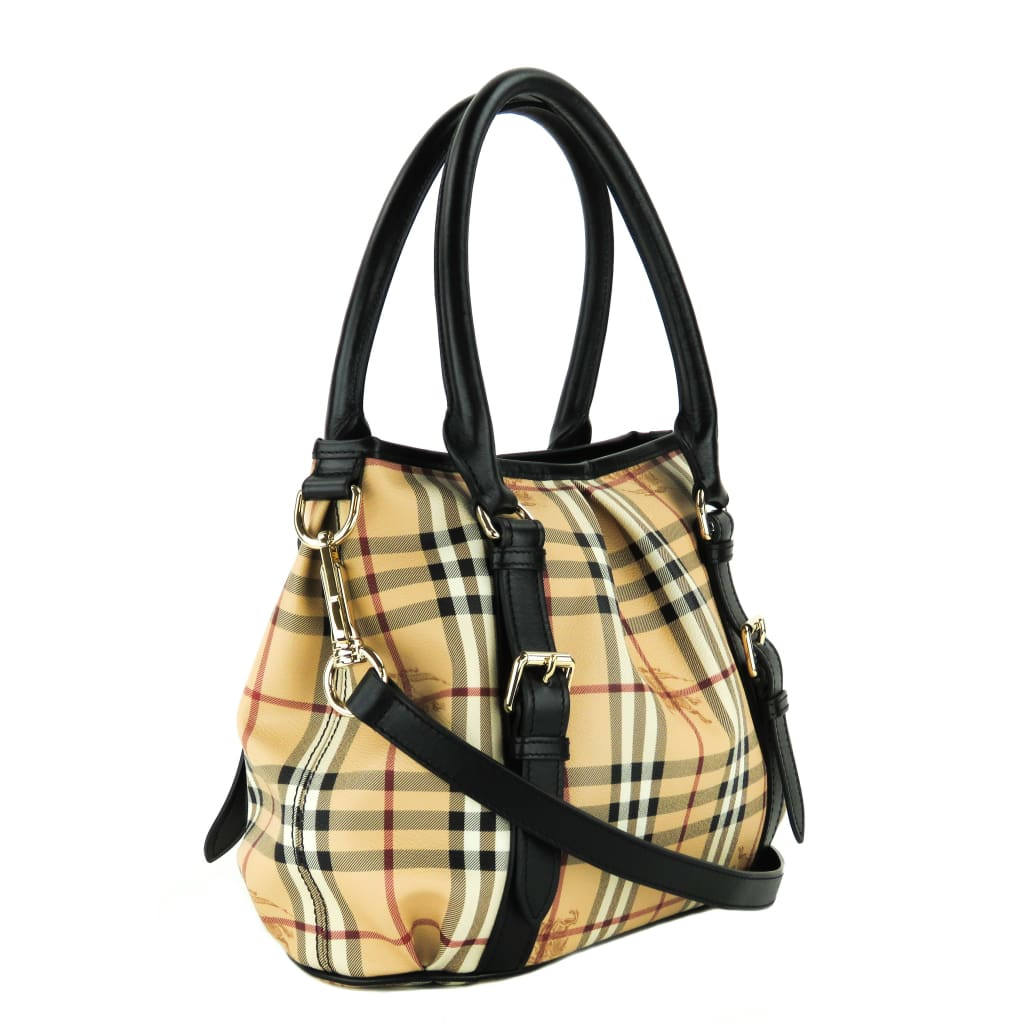 Burberry Beige Haymarket Check Northfield Tote Bag - Totes