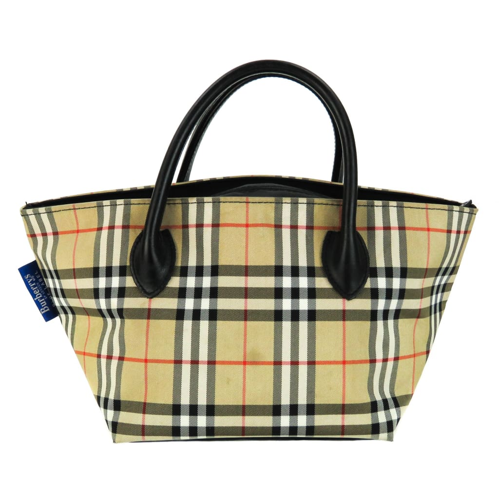 Burberry Beige Nova Check Nylon Mini Classic Tote Bag - Shoulder Bags