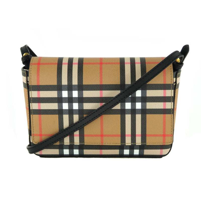 Burberry Beige Vintage Check Coated Canvas Hampshire Crossbody Bag - Crossbodies