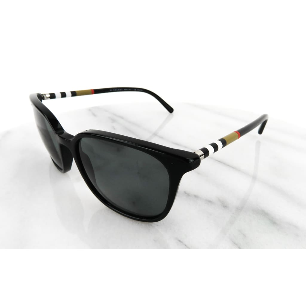 Burberry Black Check Trim B4144 Sunglasses - Sunglass Case