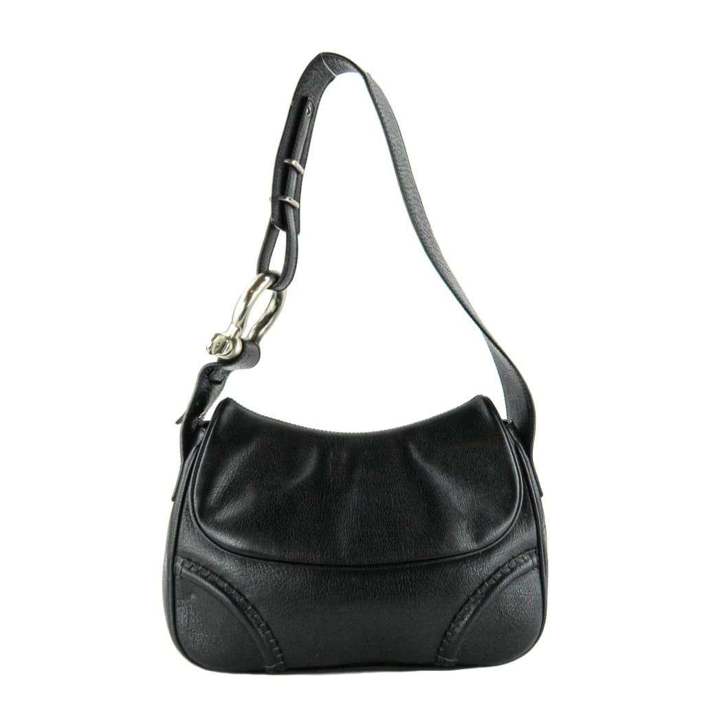 Burberry Black Leather Flap Shoulder Bags - Shoulder Bags