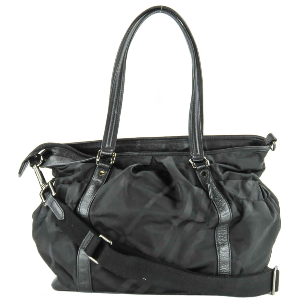 Burberry Black Supernova Ckeck Nylon Diaper Bag - Messengers/Diaper Bags