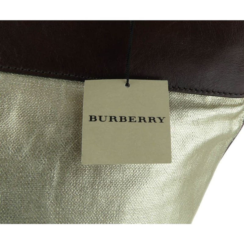 Burberry Gold Metallic Coated Canvas Stowell Roll Up Tote Bag - Totes