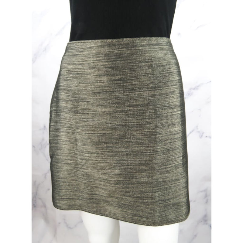 Burberry Metallic Pewter Polyester Size 8 Skirt - Skirts