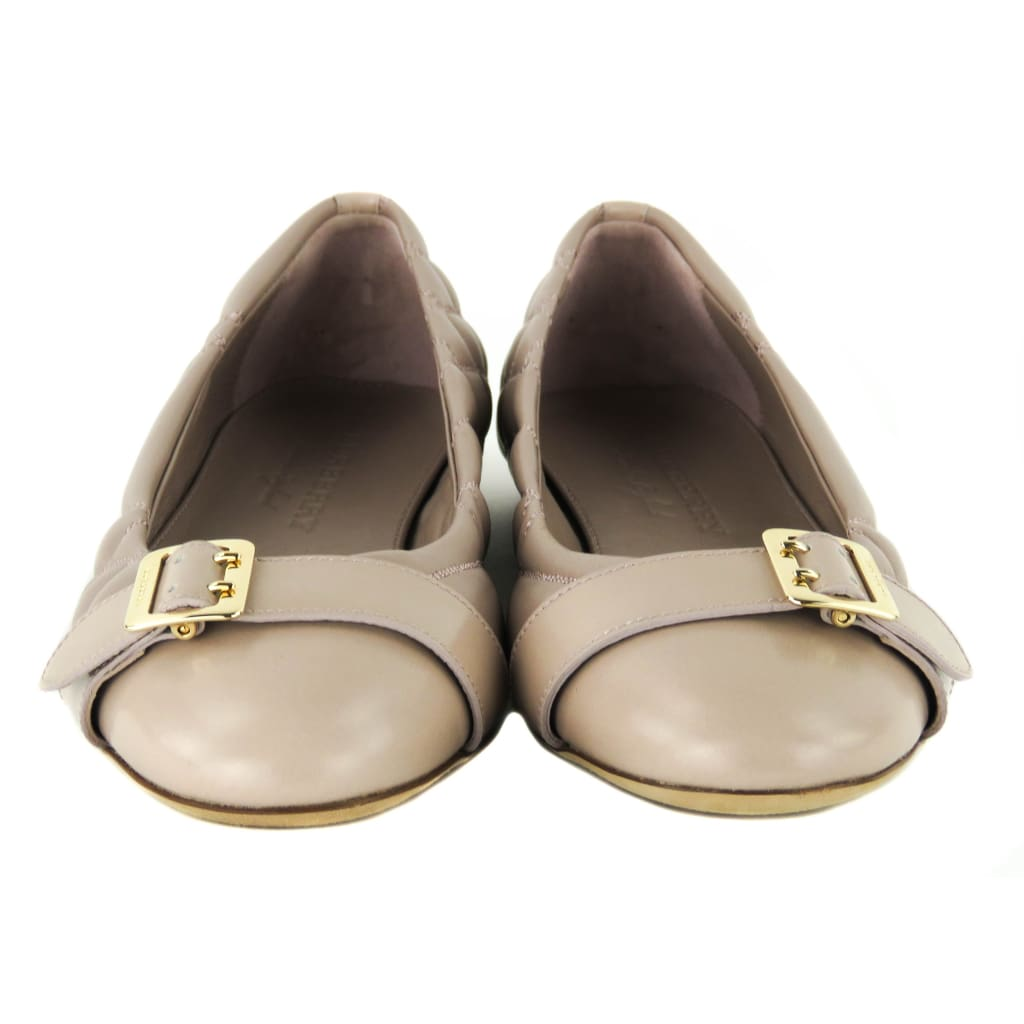 Burberry Pink Quilted Leather Housecheck Avon Ballerina Flats - Flats
