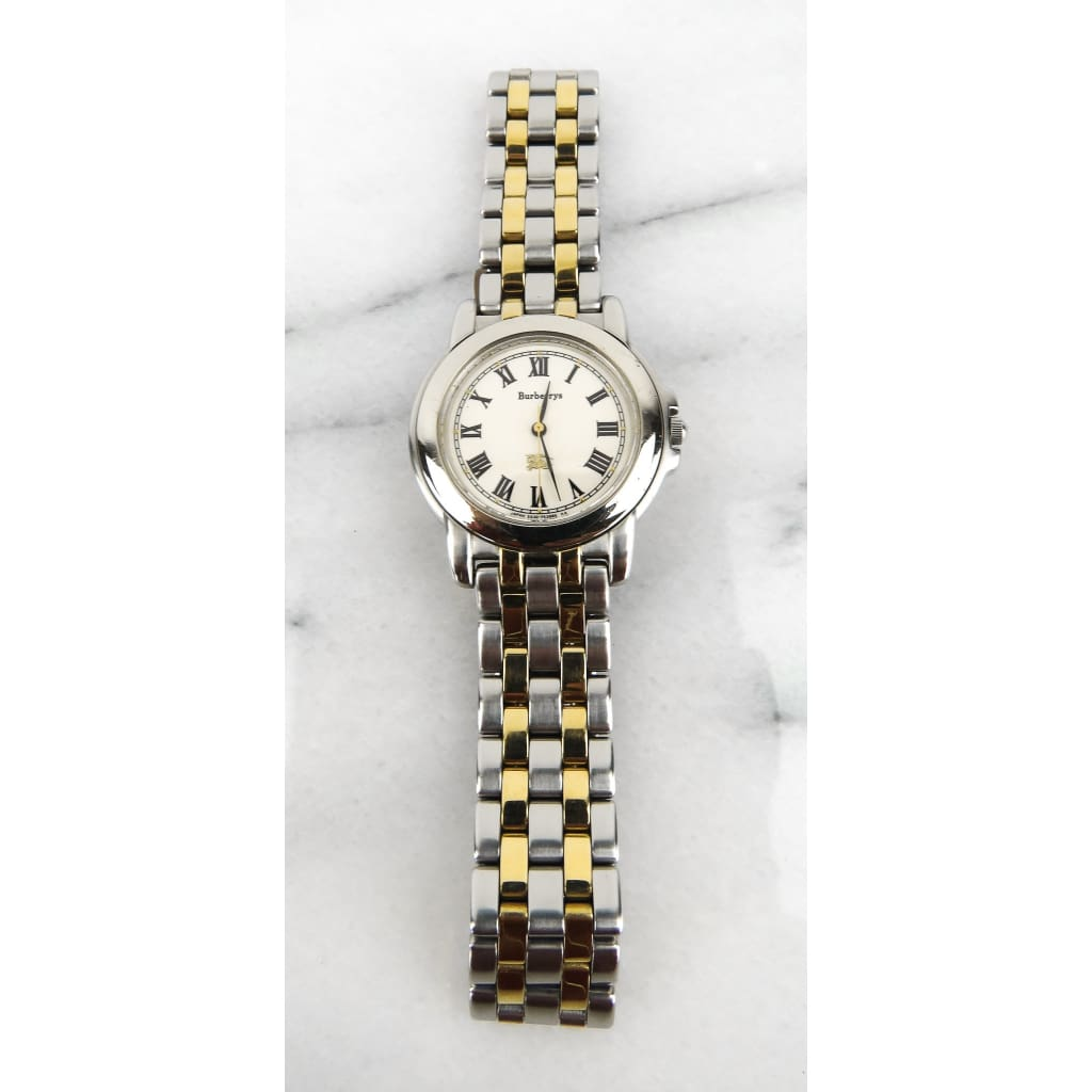 Burberry Sterling Silver Gold-tone Base St. Watch - Watches