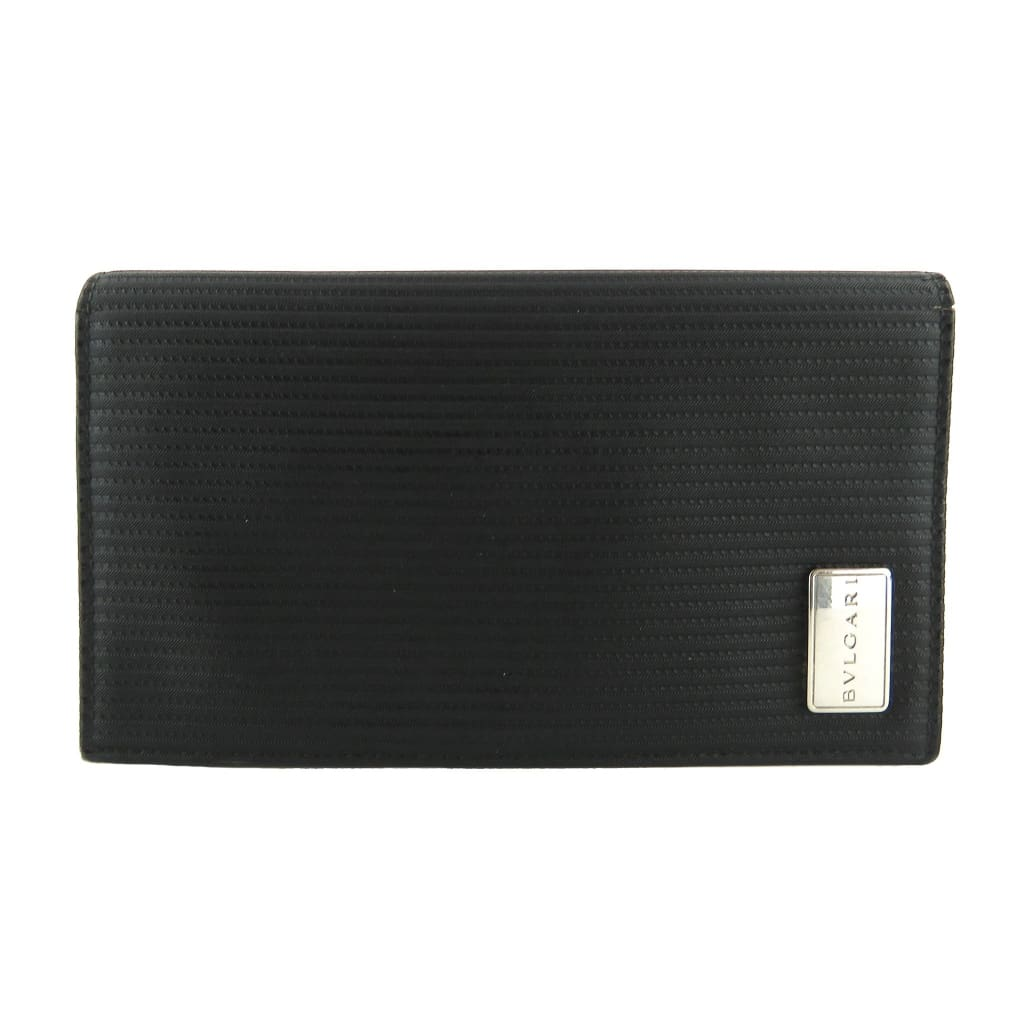 Bvlgari Black Leather Bi-fold Wallet - Wallet
