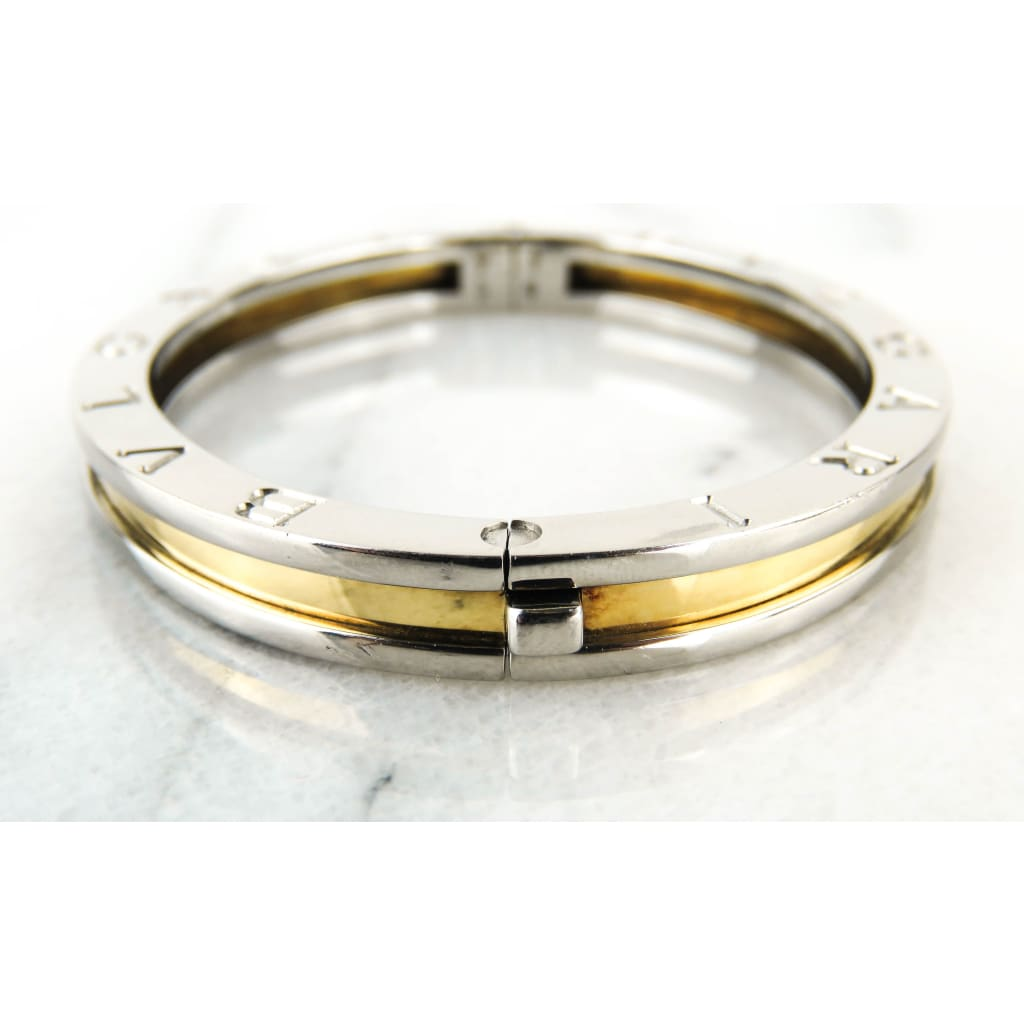 Bvlgari Stainless Steel 18K Metallic Two-Tone B.Zero 1 Bangle Bracelet - Bracelet