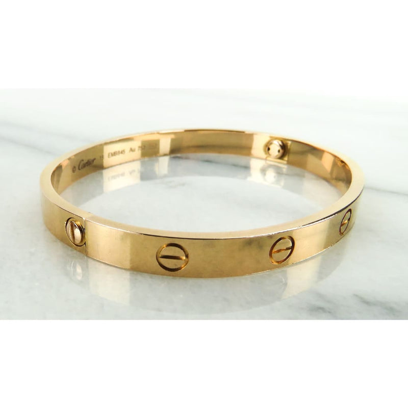 Cartier 18K Rose Gold Size 18 Love Bracelet - Bracelet