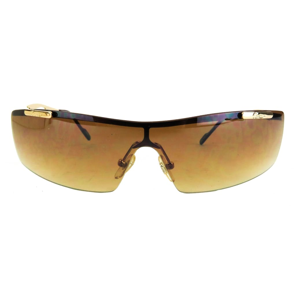 Cartier Brown Gold-Tone 2909065 Rimless Sunglasses - Sunglasses