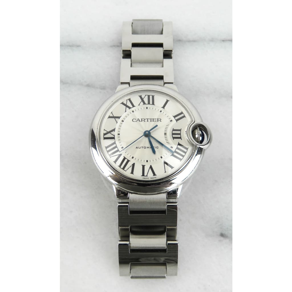 Cartier Stainless Steel Balloon Bleu De Cartier 28mm Watch - Watches