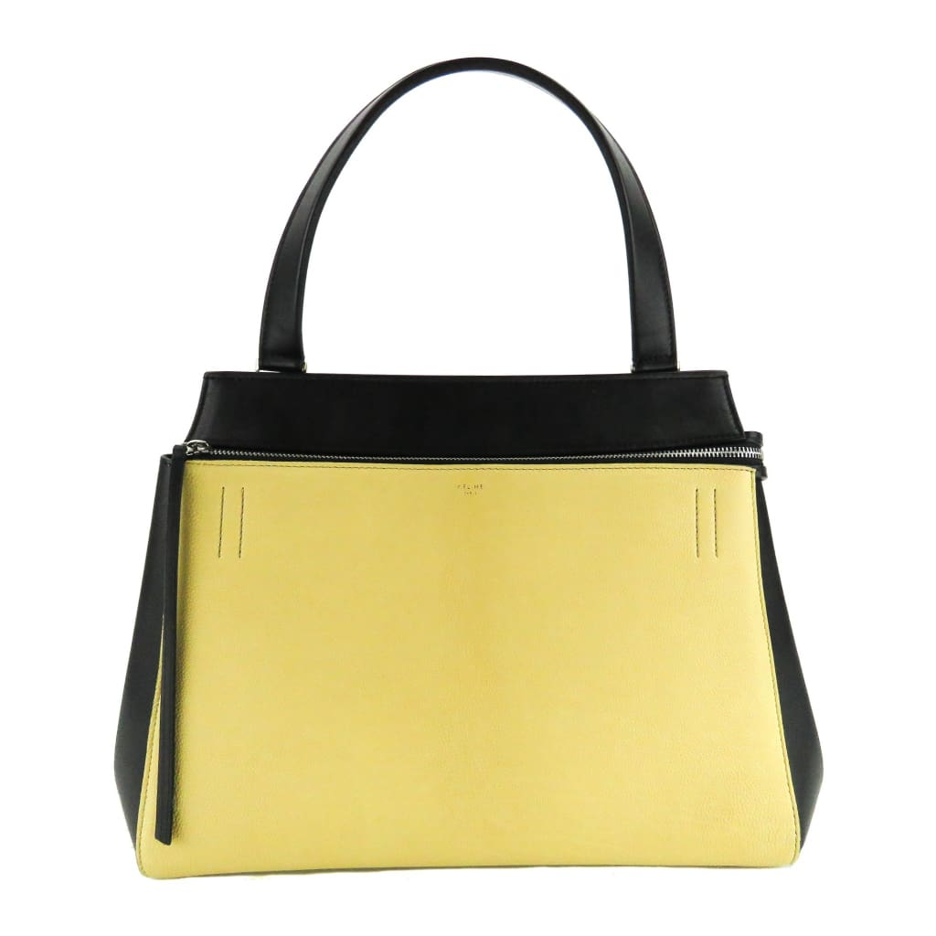 Celine Yellow and Black Leather Medium Edge Shoulder Bag - Shoulder Bags