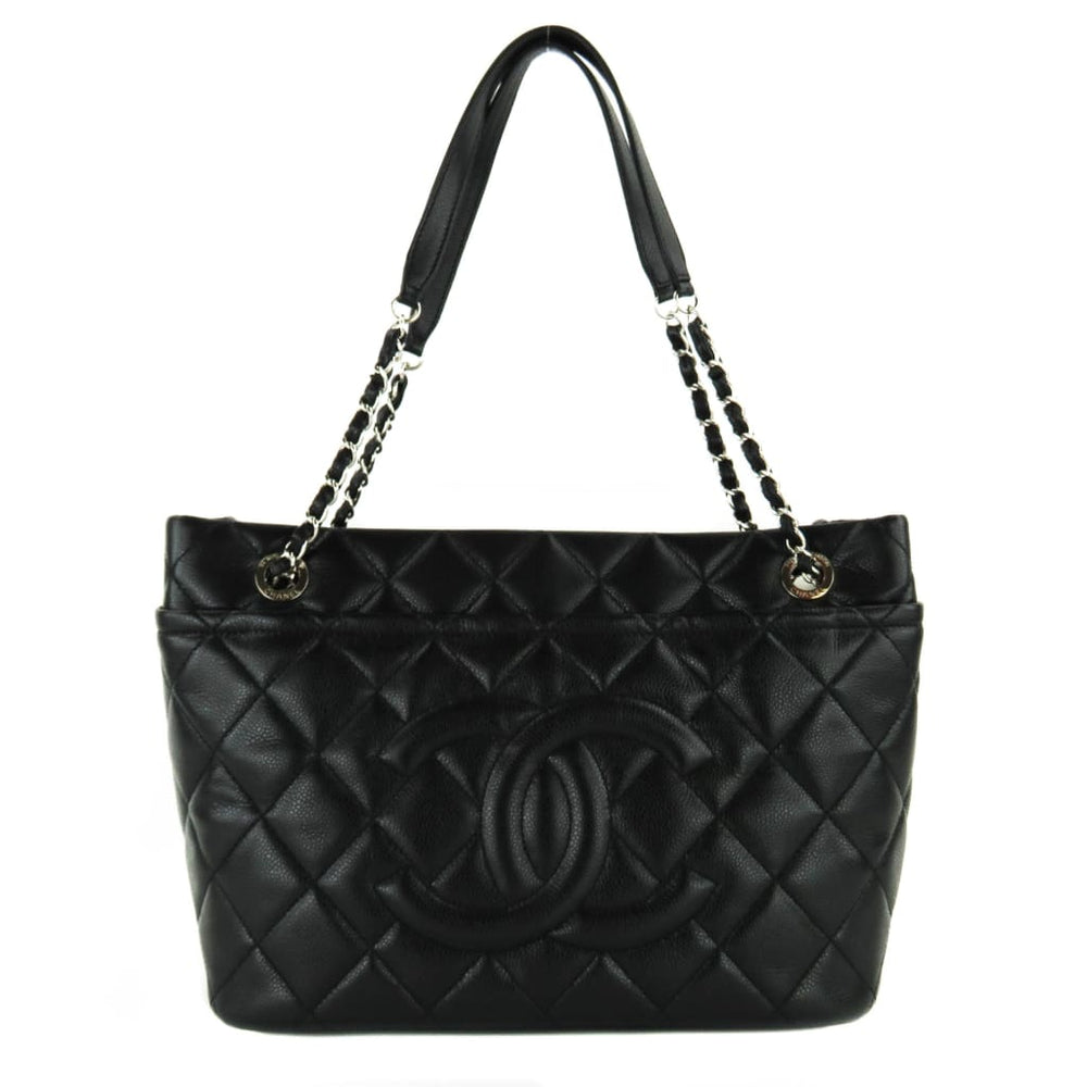 658bea55bad797 Chanel Black Caviar Quilted Leather Timeless Soft Shopper Tote Bags ...