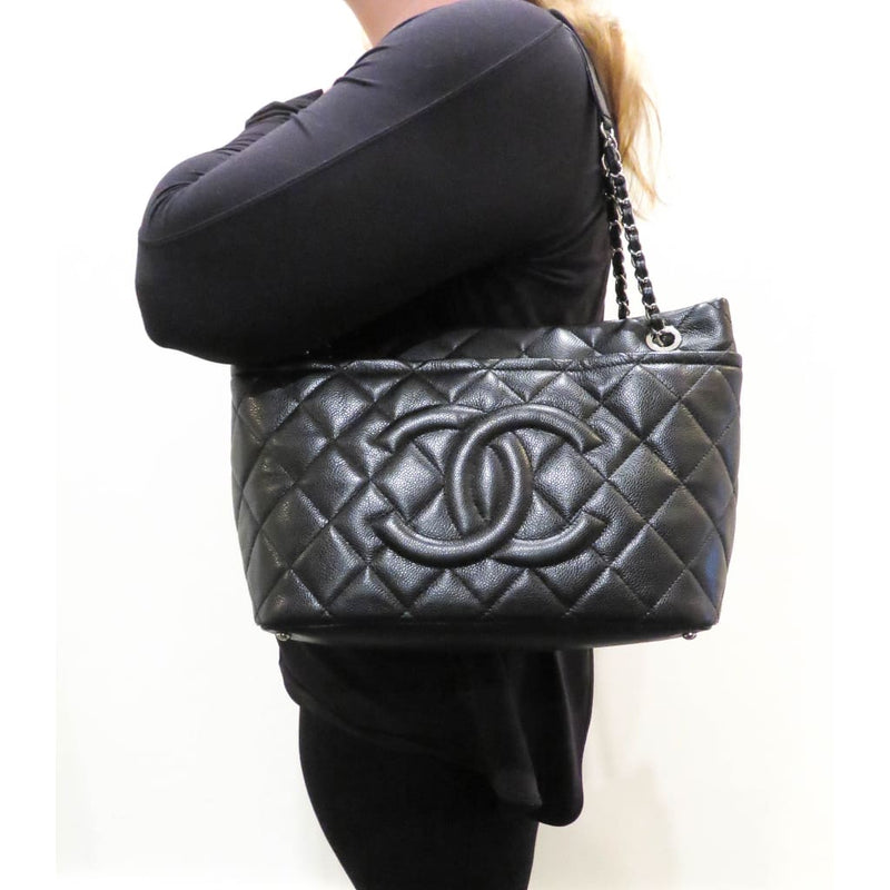 Chanel Black Caviar Quilted Leather Timeless Soft Shopper Tote Bag - Shoulder  Bags e9a870ed79b52