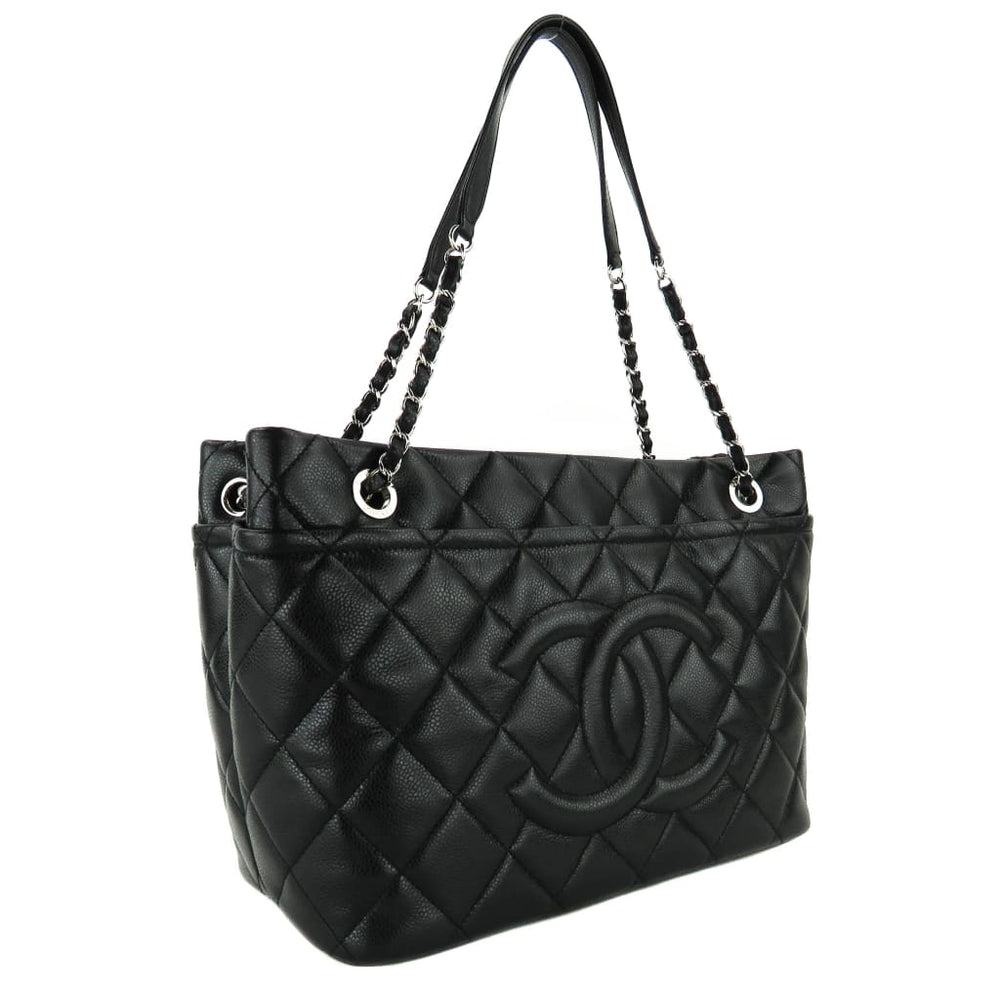 9712c93f46b4 Chanel Black Caviar Quilted Leather Timeless Soft Shopper Tote Bags ...