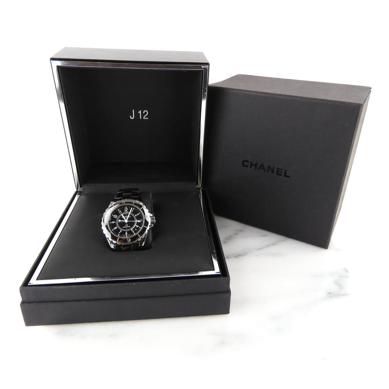 Chanel Black Ceramic J12 Automatic Watch - Watches