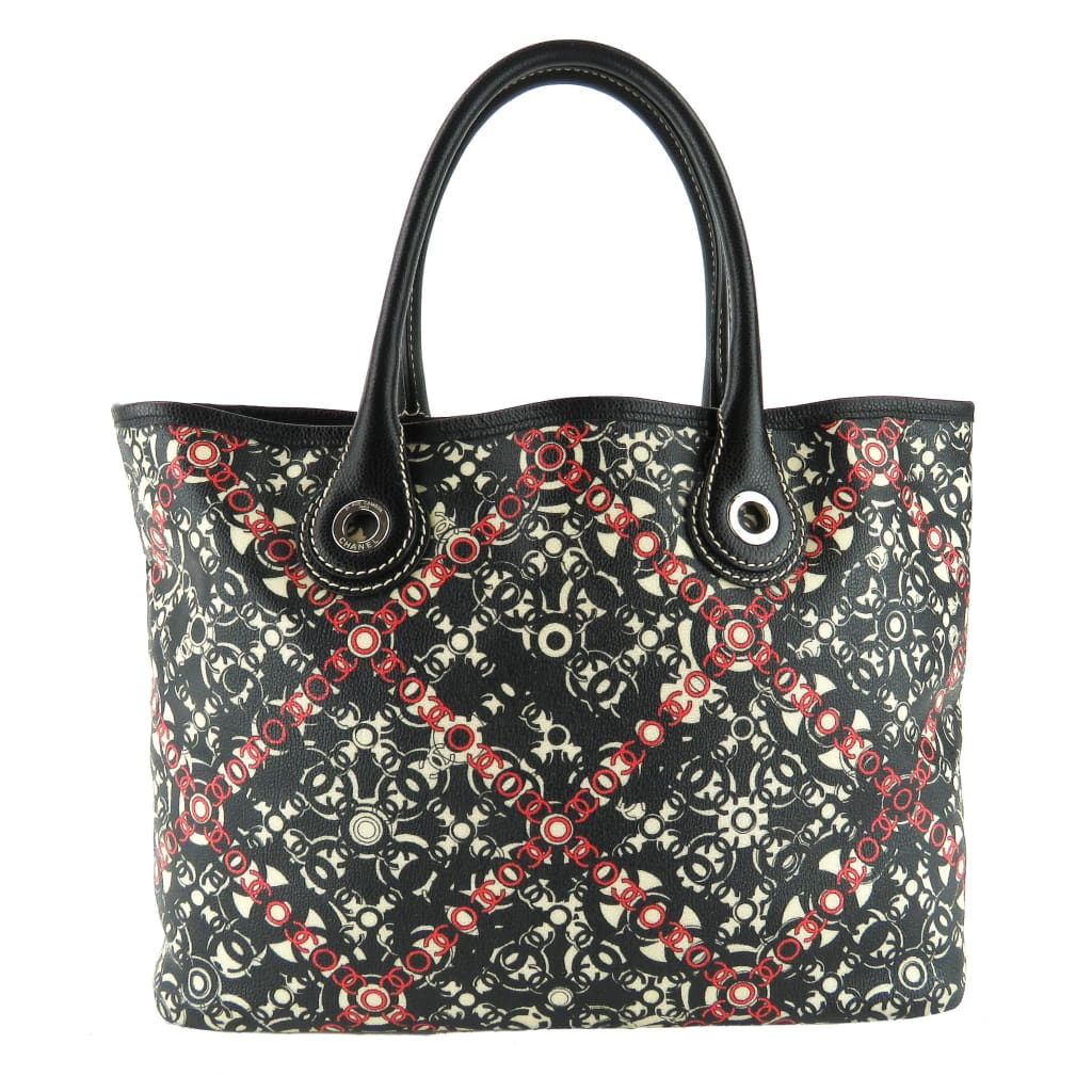 Chanel Black Multicolor Coated Canvas Coco Travel Tote Bag - Totes