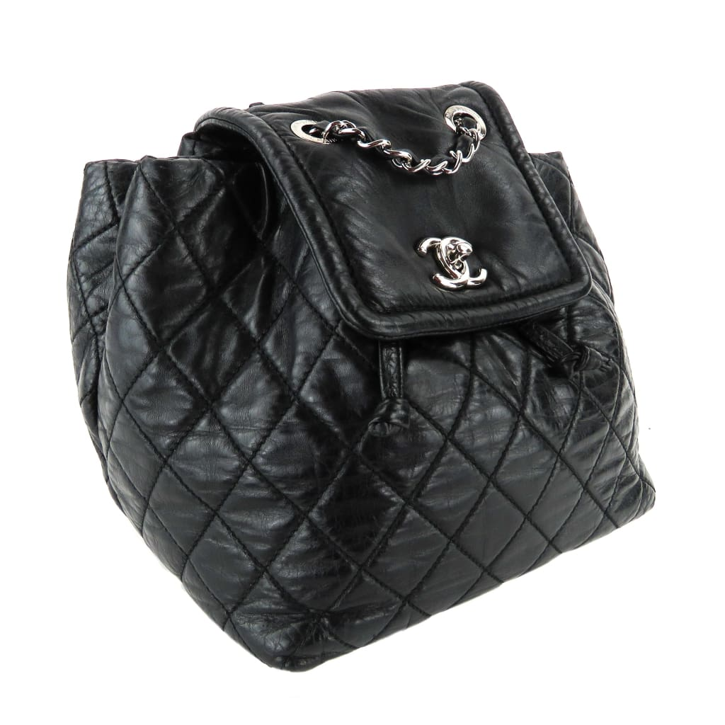 Chanel Black Quilted Calfskin Leather Beijing 2-in-1 Backpack Shoulder Bag - Backpacks
