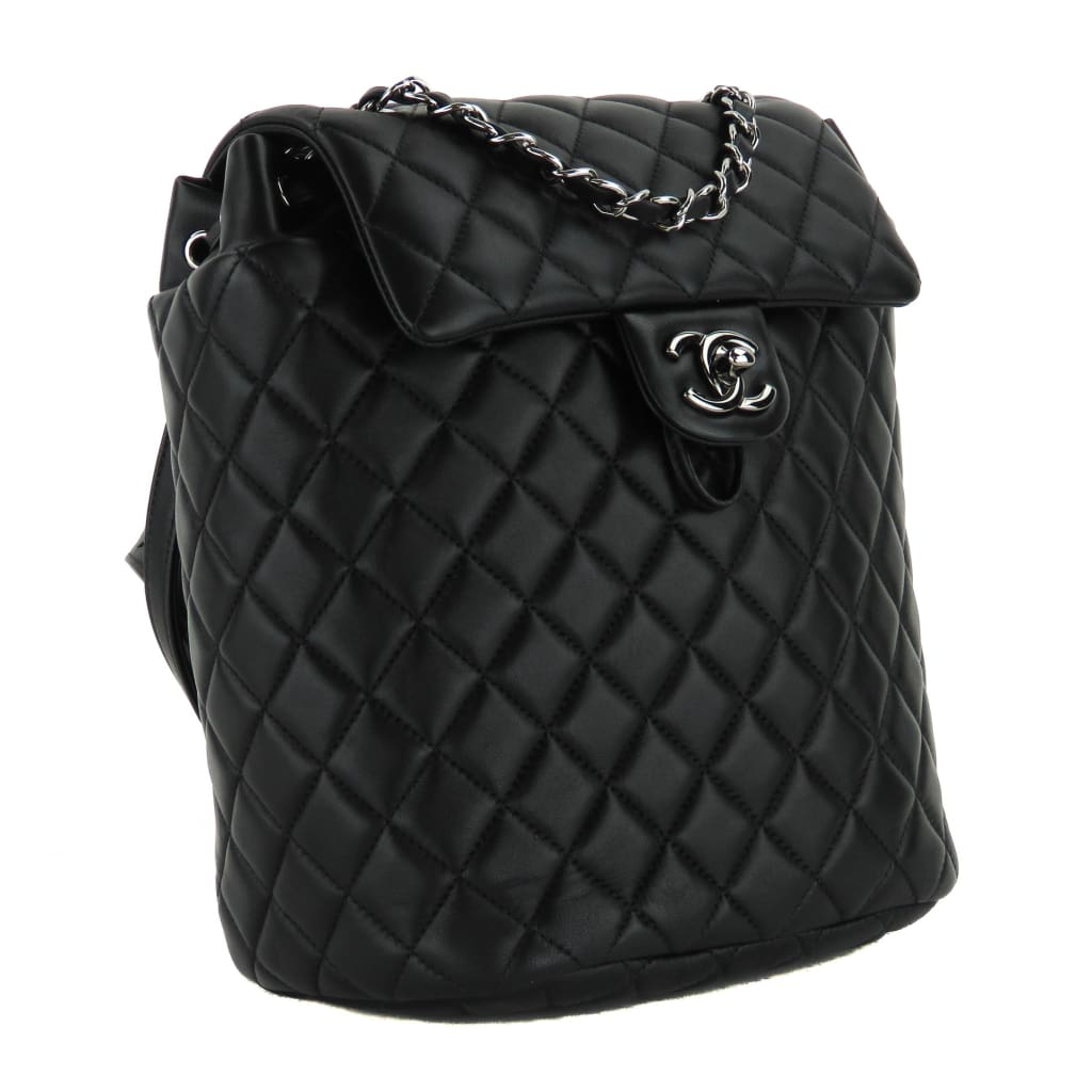 Chanel Black Quilted Calfskin Leather Urban Spirit Backpack - Backpacks
