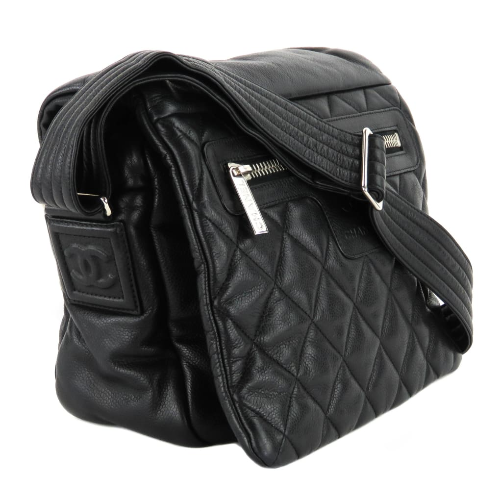 Chanel Black Quilted Caviar Leather Coco Cocoon Messenger Bag - Messengers/Diaper Bags