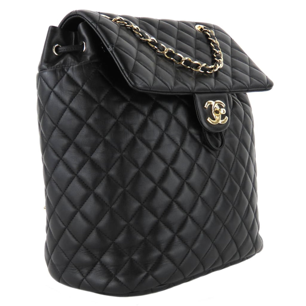 cef724ea4b83 Chanel Black Quilted Lambskin Leather Urban Spirit Backpack - Backpacks. 1