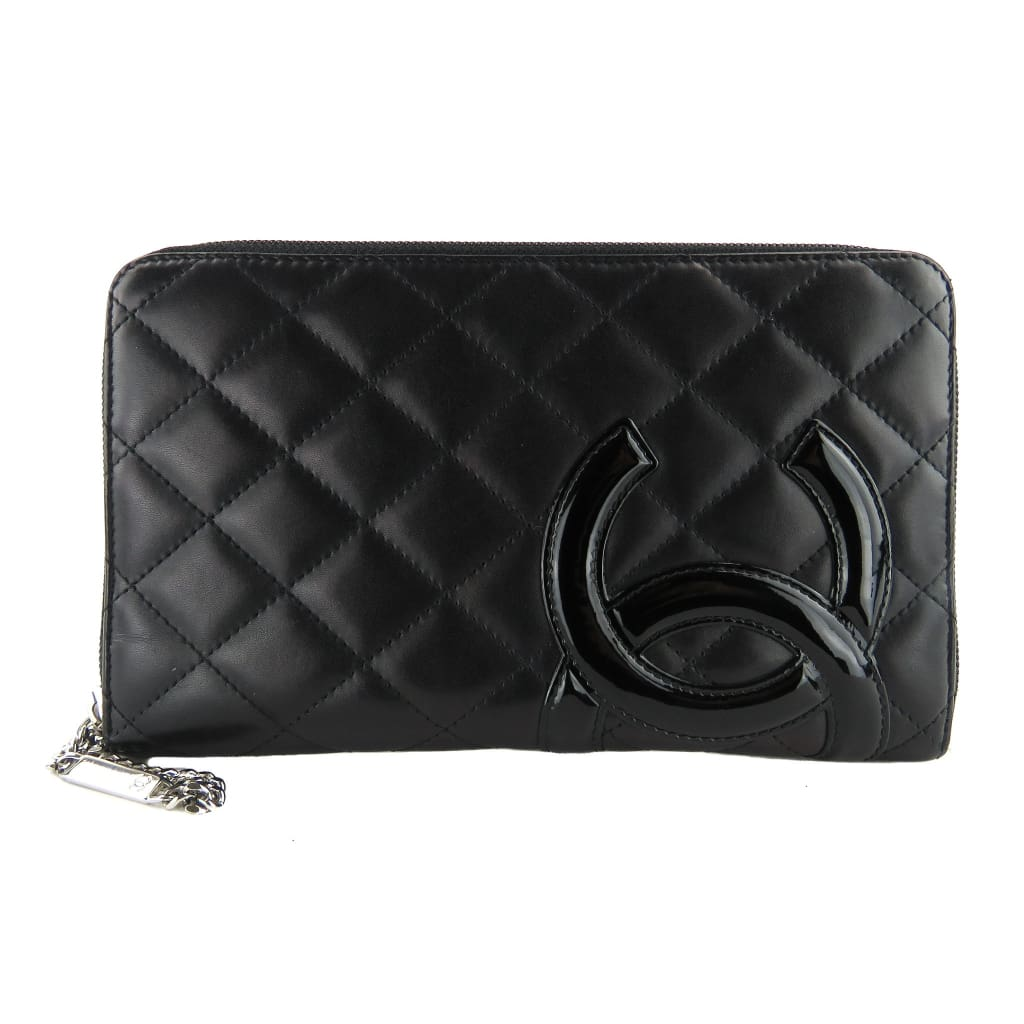 Chanel Black Quilted Leather Cambon Ligne Zippy Organizer Wallet - Wallet