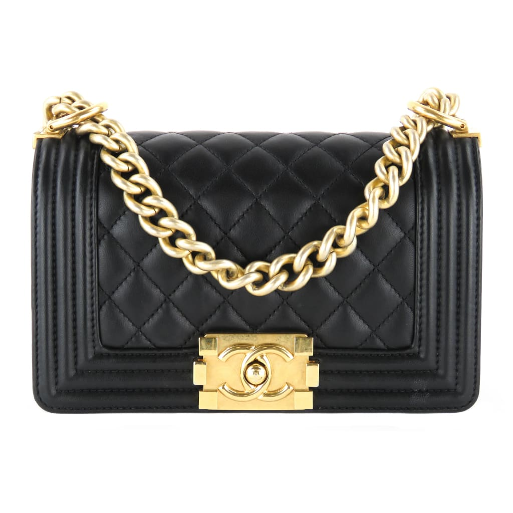 Chanel Black Quilted Leather Small Boy Shoulder Bag - handbags