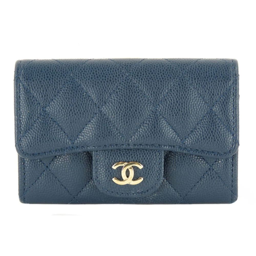 a294e39d6068 Chanel Blue Leather Mini Flap Wallet – Mosh Posh Designer ...