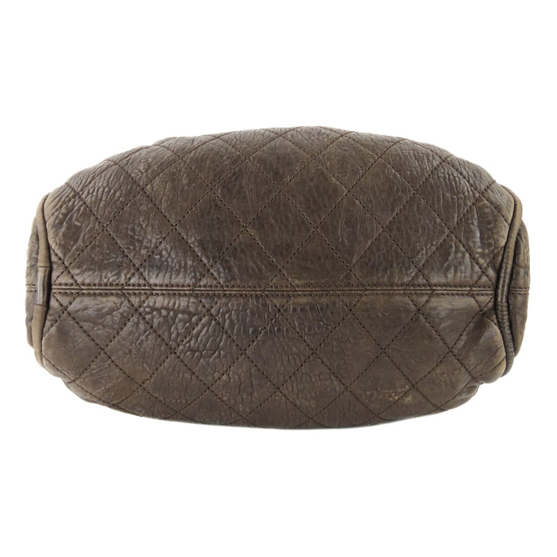 Chanel Brown Quilted Leather Le Marais Ligne Bowler Shoulder Bag - Shoulder Bags