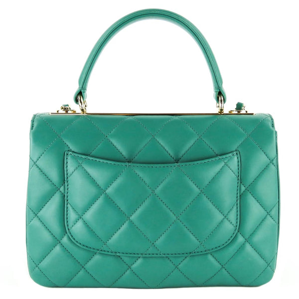 772fc3dbc42e4a Chanel Mint Green Quilted Leather Trendy CC Top Handle Flap Satchel Bag –  Mosh Posh Designer Consignment Boutique